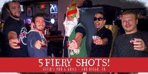 5 fiery shots