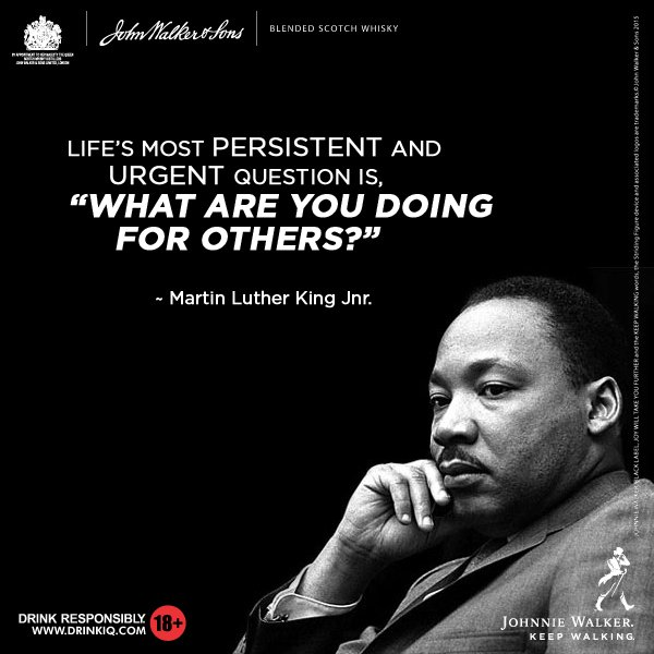 Johnnie Walker exploiting Martin Luther King