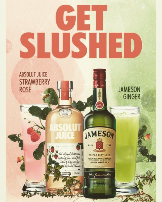 absolut jameson get slushed