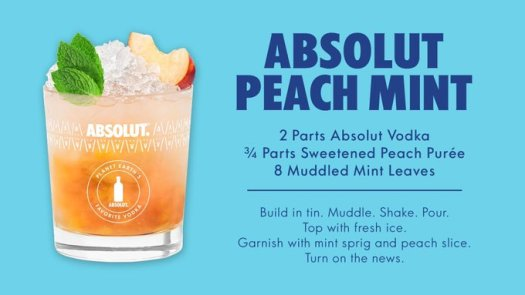 absolut peach mint
