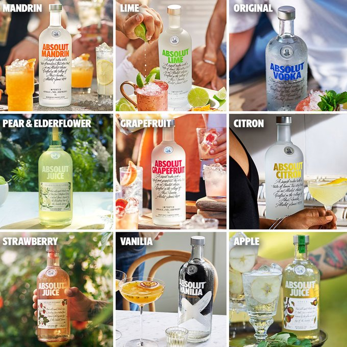 absolut us flavours